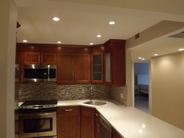 White Quartz Kitchen Countertops