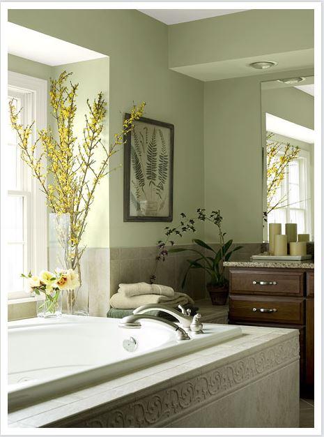 Benjamin Moore Natural Green Bathroom